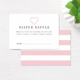 Baby Shower Diaper Raffle Ticket Cards | Blush