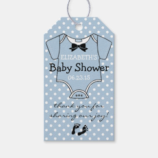 Baby Shower Dusty Blue and White Cute Baby Clothes