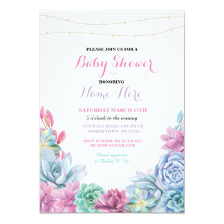 Baby Shower Engagement Party Floral Pink Invite