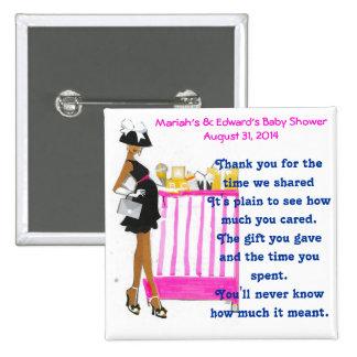 Baby Shower Favor 15 Cm Square Badge