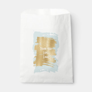 "Baby Shower Favor Bag ""Classic Blue/Gold"""
