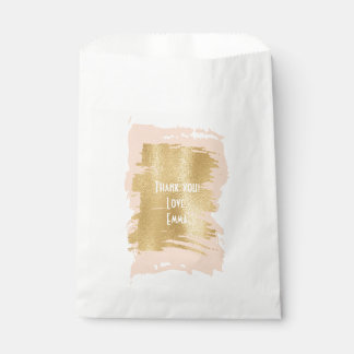 "Baby Shower Favor Bag ""Classic Pink/Gold"""