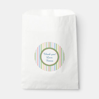 "Baby Shower Favor Bag ""PIcnic Stripes/Florals"""
