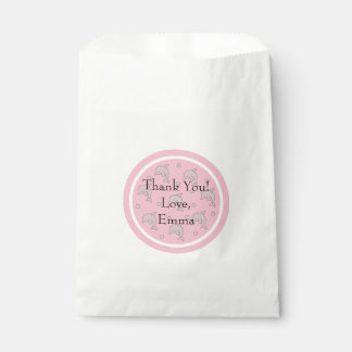 Baby Shower Favor Bag, Pink, Dolphin in a Bubble Favour Bags