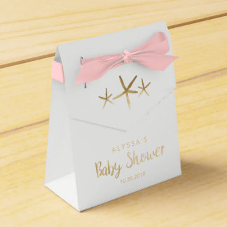 Baby Shower Favor Box - Beach, Ocean, Starfish