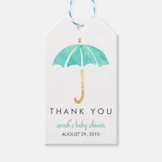 Baby Shower Favor Tags | Mint Umbrella
