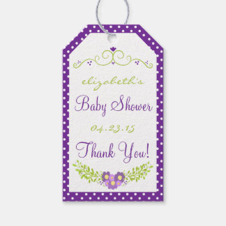 Baby Shower Floral Lavender Wreath Gift Tags
