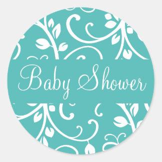 Baby Shower Floral Vine Envelope Sticker Seal
