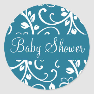 Baby Shower Floral Vine Envelope Sticker Seal