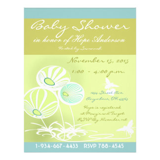 Baby Shower Flowers and Bees Flyer