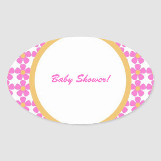 Baby Shower Flowers Sticker