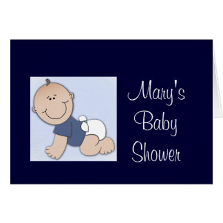 Baby shower for boy card
