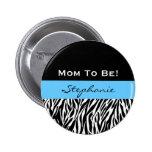 Baby Shower for Boy Modern Zebra Print
