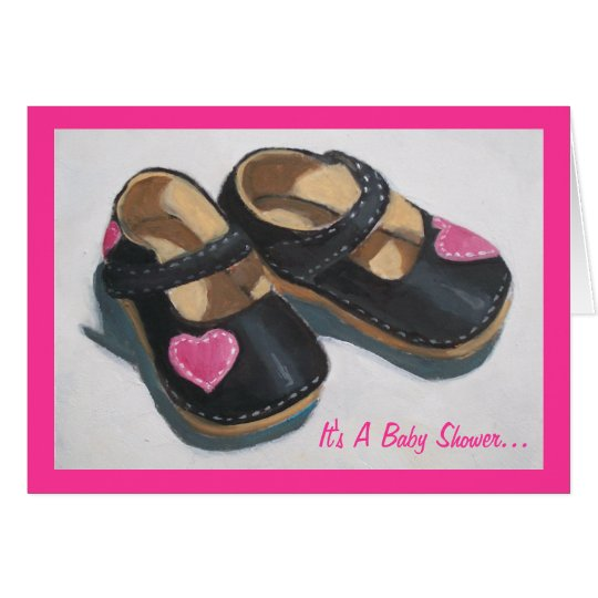 Baby Shower For Girl: Art: Shoes with Hearts