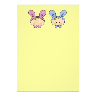 Baby shower for twins girl and boy invitations