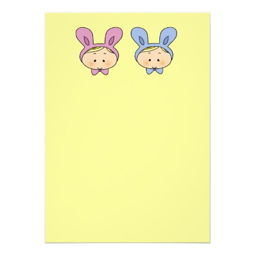 Baby shower for twins (girl and boy) invitations