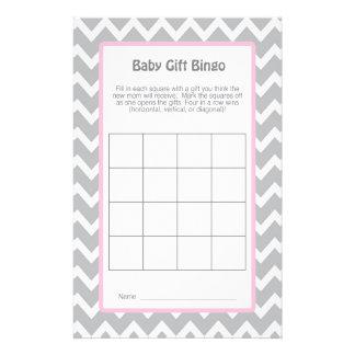 BABY SHOWER GAME - Baby Gift Bingo - 14 Cm X 21.5 Cm Flyer