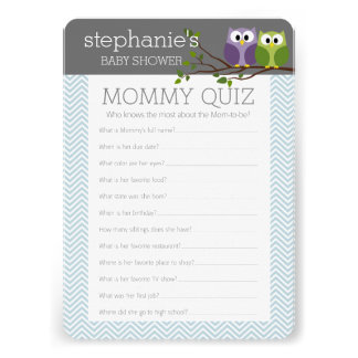 Baby Shower Game - Who Knows Mommy Best Invite