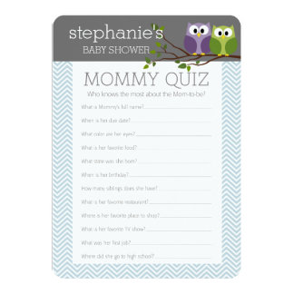 Baby Shower Game - Who Knows Mummy Best 13 Cm X 18 Cm Invitation Card