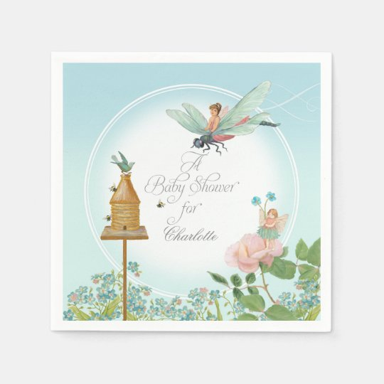 Baby Shower Garden Party Fairy Floral Bee Theme