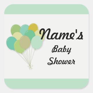 Baby Shower Gender Reveal POP Balloon Sticker