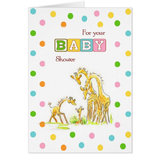 Baby Shower Giraffe Congratulations Card