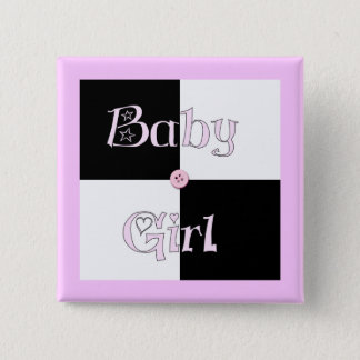 Baby Shower Girl 15 Cm Square Badge