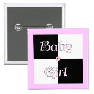 Baby Shower Girl 15 Cm Square Badge
