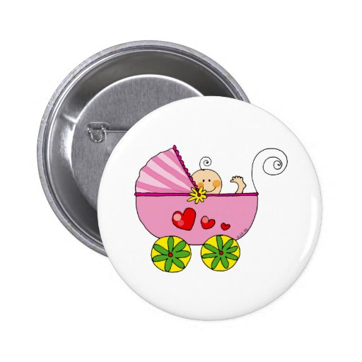 Baby shower (girl) buttons