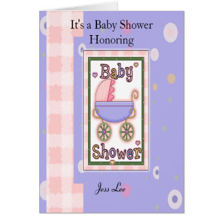 Baby Shower Girl Greeting Card