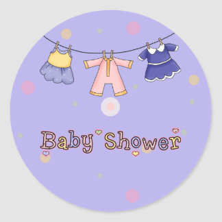 Baby Shower- Girl: Invitation Envelope Seals Round Sticker
