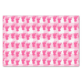 Baby shower girl, it's a girl, footprints tissue paper
