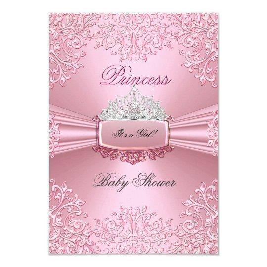 Baby Shower Girl Pink Princess Tiara lace SML