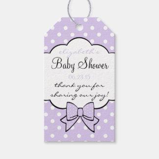 Baby Shower Guest Favor Lavender Polka Dots