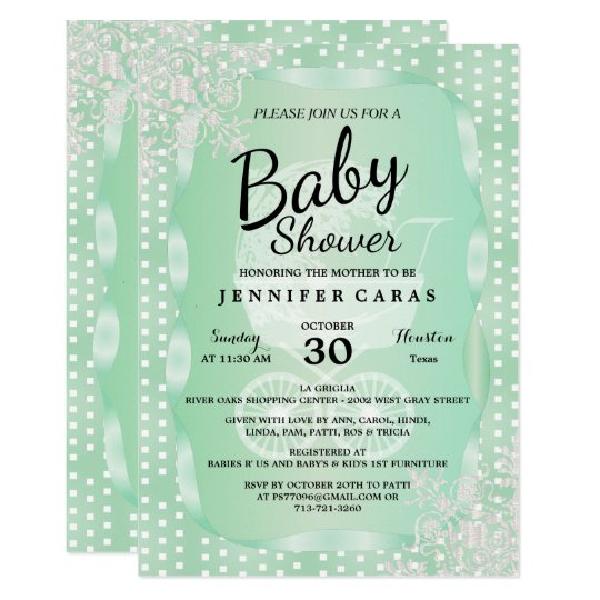 Baby Shower in an Elegant Mint Green and