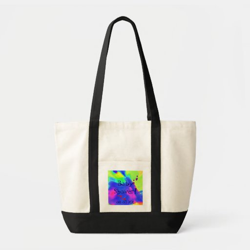 Baby Shower In Black And White I Canvas Bag