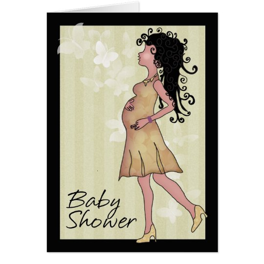 Baby shower in cream and brown card