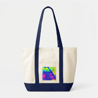 Baby Shower In Navy And White I Canvas Bag