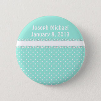 Baby Shower in Teal 6 Cm Round Badge