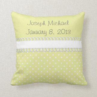 Baby Shower in Yellow Cushion