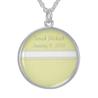 Baby Shower in Yellow Sterling Silver Necklace