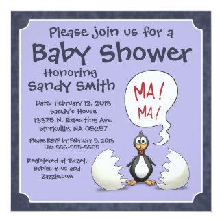 Baby Shower Invitation 107: Baby Penguin