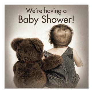 Baby Shower Invitation (2)- Teddy Bear and Baby