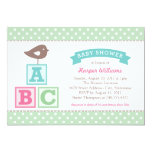 Baby Shower Invitation | ABC Alphabet Blocks Theme