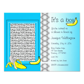 Baby Shower Invitation Banana Boy Add Photo