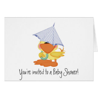 Baby Shower Invitation-Blue Duck/Quackup Greeting Card