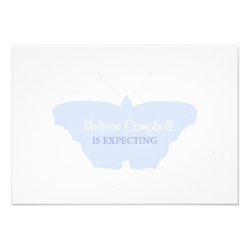 Baby Shower Invitation | Butterfly |blu