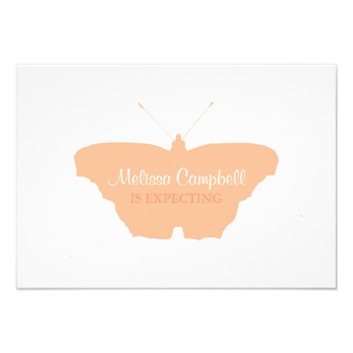 Baby Shower Invitation | Butterfly |pch
