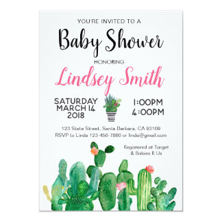Baby Shower Invitation Cactus-Cacti
