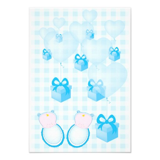 baby shower invitation card twins boys
